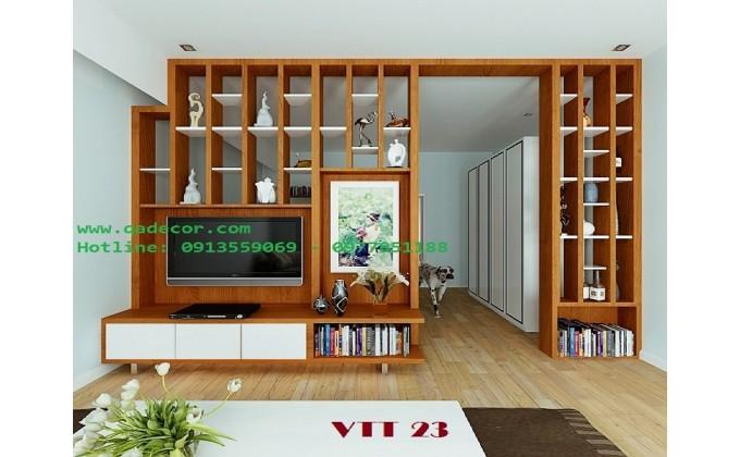Vách ngăn phòng khách với phòng ngủ VTT23