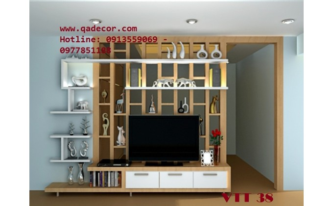 Vách ngăn trang trí phòng khách VTT38