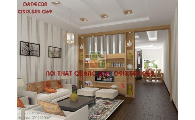 Kệ trang trí phòng khách nhà phố KTT109
