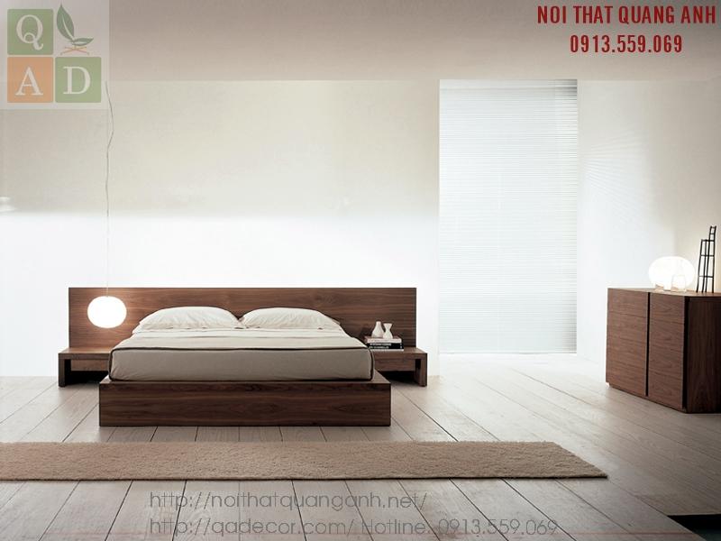 Giường ngủ gỗ hiện đại
