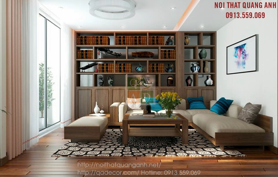 Bộ sofa gỗ phòng khách